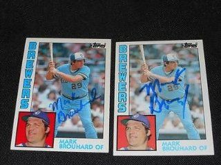 Milwaukee Brewers Mark Brouhard Signed Autograph 1984 Topps Card #528 TOUGH Q at 's Sports Collectibles Store