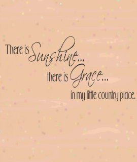 There Is SunshineThere Is GraceIn My Little Country Place Picture Art   Living Room   Home Decor Sticker   Vinyl Wall Decal   Size  10 Inches X 20 Inches   22 Colors Available