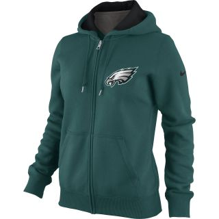 NIKE Womens Philadelphia Eagles Tailgater Fleece Full Zip Hoody   Size Xl,