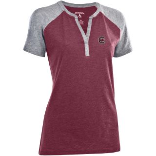 Antigua Womens South Carolina Gamecocks Shine 100% Cotton Washed Slub Jersey