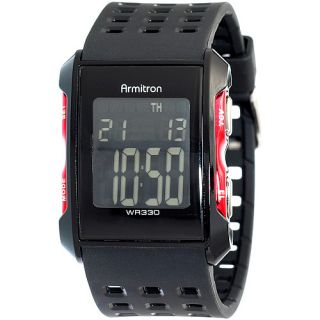 Armitron Mens Digital Chronograph Sport Watch (408177RED)