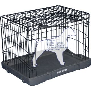 Pet Gear Travel Lite Steel Crate   Size 36, Black (TL5936BK)