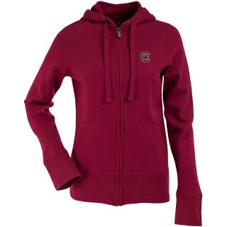 Antigua Womens South Carolina Gamecocks Signature Hooded Full Zip Sweatshirt