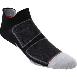 FEETURES Elite Ultra Light No Show Socks   Size Large, Black/red
