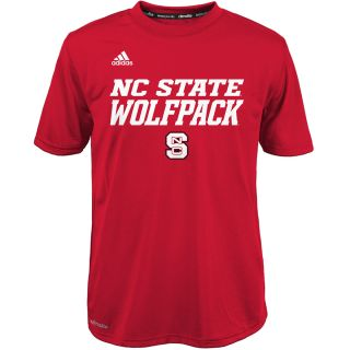adidas Youth North Carolina State Wolfpack Sideline Game ClimaLite Short Sleeve