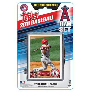 Topps 2011 Los Angeles Angels Official Team Baseball Card Set of 17 Cards in