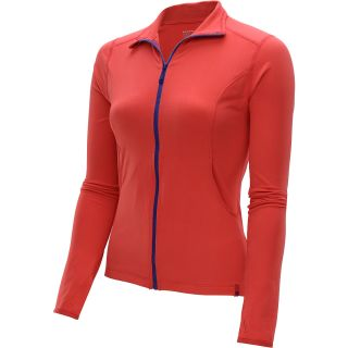 MOUNTAIN HARDWEAR Womens Butter Full Zip Jacket   Size Medium, Red Hibiscus