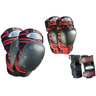 Atom Pro Tri Pack Pad Set   Size Large, Red (27118 L)