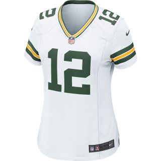 NIKE Womens Green Bay Packers Aaron Rodgers Game White Jersey   Size 2xl,