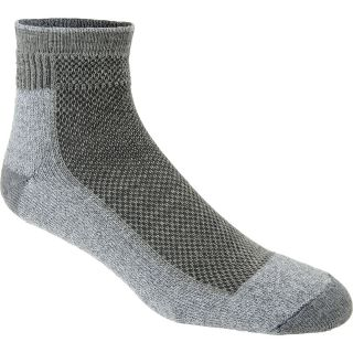 WIGWAM Cool Lite Hiker Pro Quarter Socks   Size Large, Grey