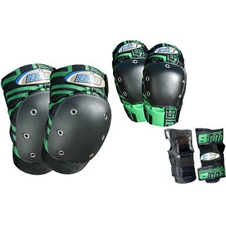 Atom Pro Tri Pack Pad Set   Size Medium, Green (27117 M)