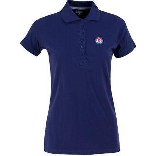Antigua Womens Texas Rangers Spark 100% Cotton Washed Jersey 6 Button Polo