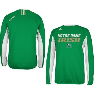 adidas Mens Notre Dame Fighting Irish ClimaLite Sideline Performance Crew