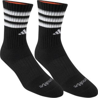 adidas Kids Team Crew Socks   2 Pack   Size Small, Black/white