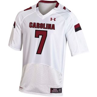 UNDER ARMOUR Mens South Carolina Gamecocks Replica White Jersey   Size 2xl,