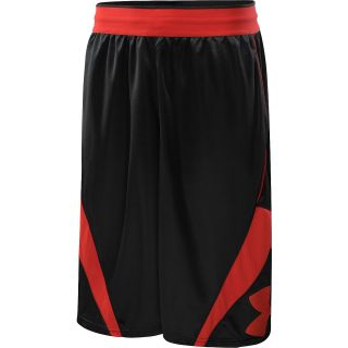 UNDER ARMOUR Mens EZ Mon Knee Basketball Shorts   Size Xl, Black/red