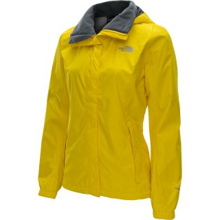 THE NORTH FACE Womens Resolve Rain Jacket   Size Small, Lightning Yellow