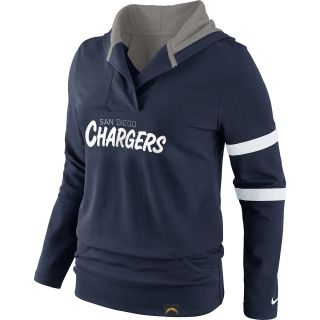 NIKE Womens San Diego Chargers Play Action Hooded Top   Size Small, College