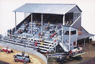 RIVERSIDE SPEEDWAY GRANDSTAND   JL INNOVATIVE DESIGN HO SCALE MODEL TRAIN ACCESSORIES 551 Toys & Games