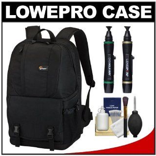Lowepro Fastpack 250 Backpack Digital SLR Camera Case (Black) + Accessory Kit for Canon EOS 70D, 6D, 5D Mark III, Rebel T3, T5i, SL1, Nikon D3100, D3200, D5200, D7100, D600, D800, Sony Alpha A65, A77, A99  Camera & Photo