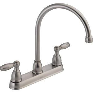 Delta Foundations 2 Handle Kitchen Faucet in Stainless 21987LF SS
