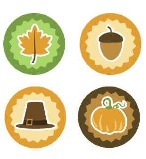 Thanksgiving & Fall Edible Cupcake Toppers Decoration