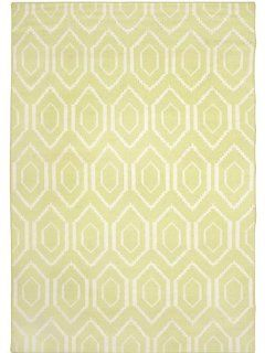 Safavieh Dhurrie Collection DHU556A 8 Handmade Wool Area Rug, 8 by 10 Feet, Green/Ivory