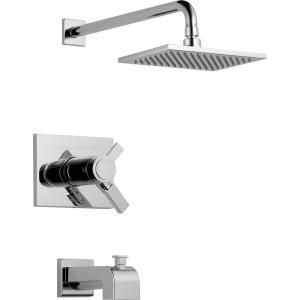 Delta Vero 1 Handle Thermostatic Tub and Shower Faucet Trim Kit Only in Chrome (Valve Not Included) T17T453