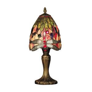 Dale Tiffany 15 in. Vickers Antique Brass Table Lamp TT101287