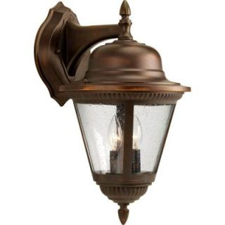 Progress Lighting Westport Collection Antique Bronze 2 light Wall Lantern P5864 20