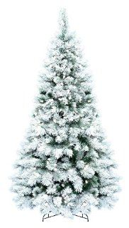 GKI Bethlehem 7.5' Flocked Boulder Pine Prelit Christmas Tree   Bethlehem Lights Christmas Tree