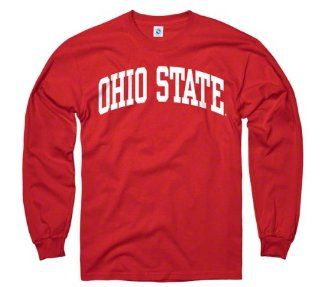 Ohio State Buckeyes Youth Red Arch Long Sleeve T Shirt  Sports Fan T Shirts  Sports & Outdoors