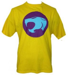 Thundercats Mens T Shirt   Bright Blue and Purple Logo (XX Large) Yellow Novelty T Shirts Clothing