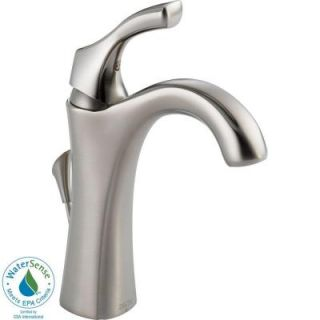 Delta Addison Single Hole 1 Handle High Arc Bathroom Faucet in Stainless 592 SS DST