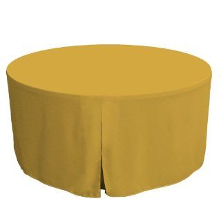 Tablevogue 60 Inch Fitted Round Folding Table Cover, Mimosa   Tablecloths