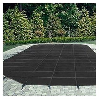 Arctic Armor 12x24 25yr Commercial Mesh Safety Pool Cover Black Right Side Step  Swimming Pool Covers  Patio, Lawn & Garden