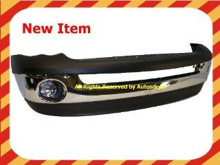 2002 2005 DODGE RAM 1500 PICKUP FRONT BUMPER CHROME WITH VALANCE FOG LIGHT NEW Automotive