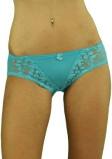 ToBeInStyle Women's Floral Lace V Shaped Low Rise Elastic Panty