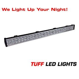 "Tuff LED Lights Off Road 4x4 Jeep 40"" Inch LED Light Bar 144 Watt 8000 Lumen UTV Polaris Ranger Yamaha Rhino Better Then Rigid E Series Truck SUV Tractor ATV Trailer Racing INCLUDES> FREE UNIVERSAL WIREHARNESS WITH INLINE FUSE, RELAY, AND TUFF LED"