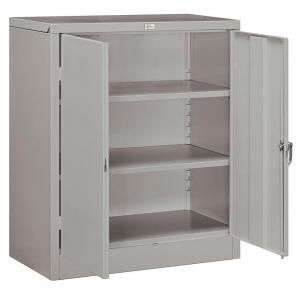 Salsbury Industries 9000 Series 42 in. H x 18 in. D Counter Height Storage Cabinet Assembled in Gray 9048GRY A