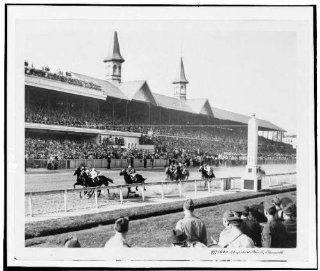 Photo First quarter, 1943, Kentucky Derby, infield, horse racing, sport, Louisville, KT, c1944   Prints