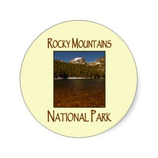 Bear Lake Rocky Mountains National Park Round Stickers
