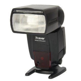 "Travor SL581C 2.0"" LCD Flash Speedlite for Canon DSLR Camera   Black  Photographic Light Meters  Camera & Photo"