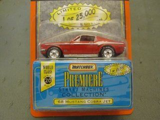 68 Ford Mustang Cobra Jet Fastback Matchbox Premiere Series 20 Street Machines Collection Toys & Games