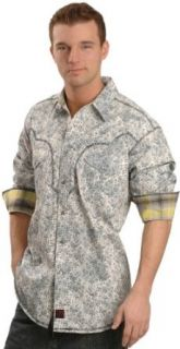 Panhandle Slim Men's Paisley Western Shirt Lt Blue X Large at  Men�s Clothing store Button Down Shirts