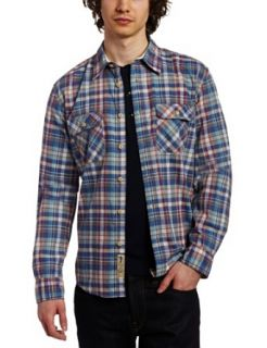 JUST A CHEAP SHIRT Men's Woven Shirt, Blue/Pink, X Large at  Men�s Clothing store