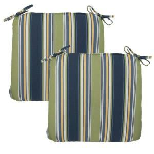 Hampton Bay Burkester Stripe Outdoor Chair Cushion (2 Pack) 7348 02002100