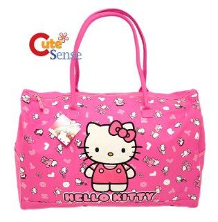 Sanrio Hello Kitty Large Duffle Travel Bag Purse Tote New Sports & Outdoors