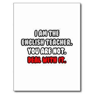 Deal With ItFunny English Teacher Post Card