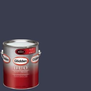 Glidden Team Colors 1 gal. #NFL 182B NFL St. Louis Rams Blue Flat Interior Paint and Primer NFL 182B F 01